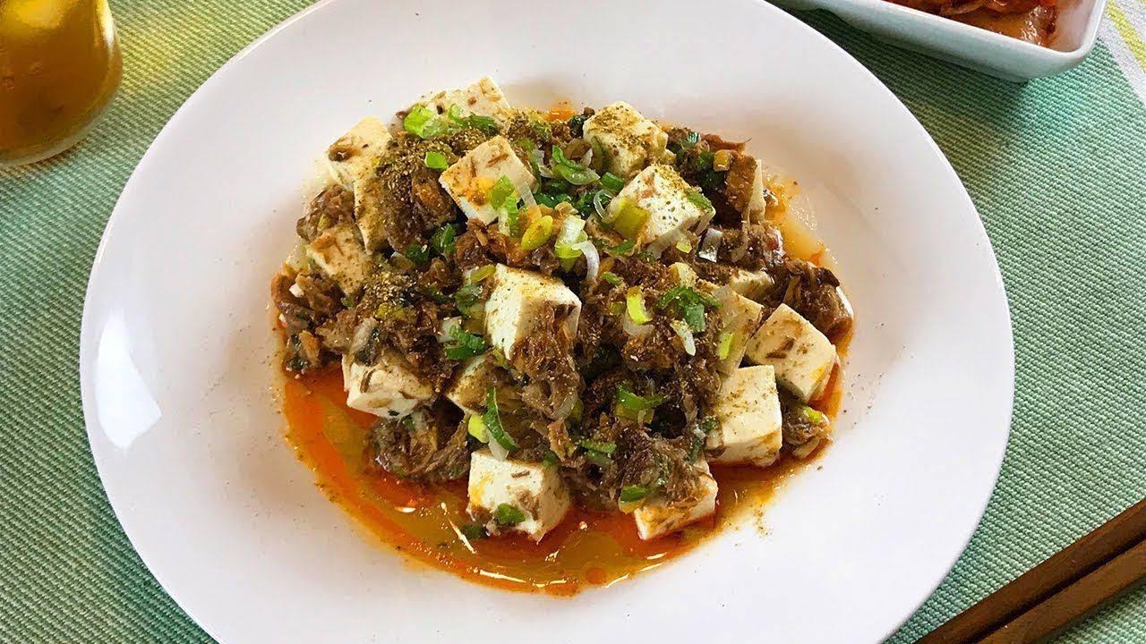さばの冷やし麻婆豆腐