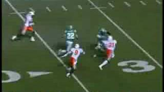 Darian Durant 55 yard touchdown pass to Stu Foord