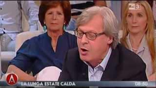 """Sgarbi: """"Di Pietro identico a Lusi. Lui, Renzi e Grillo zucche vuote, depensanti"""""""
