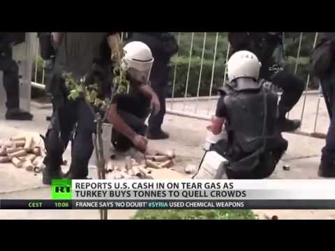 WARZONE TURKEY CONSPIRACY  US PRODUCES TEAR GAS USED IN TURKISH RIOTS