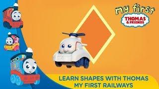 Thomas & Friends Bahasa Indonesia - Belajar mengenal bentuk bersama My First Railways Thomas