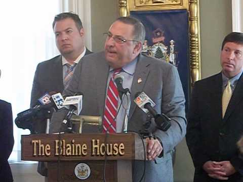 Pt 3- Maine Governor Paul LePage News Conference on PUC, Income Tax Removal & Budget