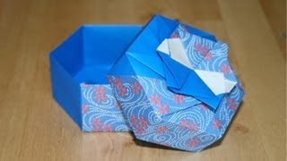 Christmas Origami - Hexagonal Gift Box