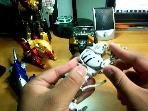 Power Rangers Wild Force - Wild Force Megazord Review (Individual Zords)