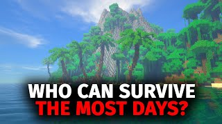 Download lagu Whoever Can Survive The Most Days On A Deserted Island In Minecraft Wins
