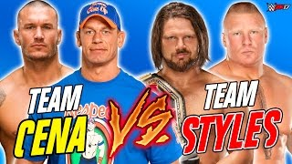 John Cena & Randy Orton vs. AJ Styles & Brock Lesnar