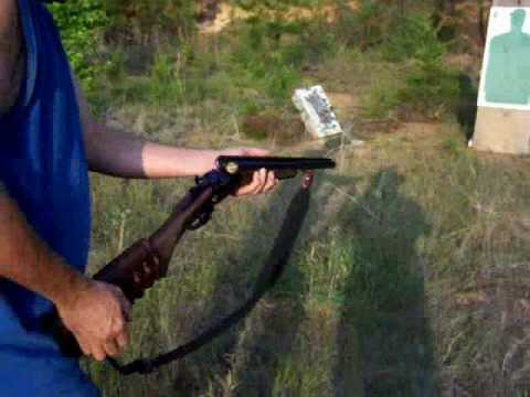 12 Gauge double barrel shotgun OO buckshot