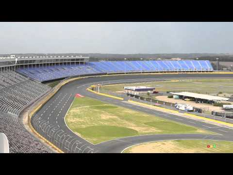 empty seats at Charlotte Motor Speedway