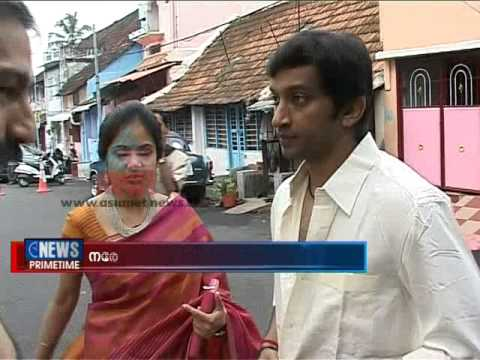 Narain Karthikeyan and his family in Thiruvananthapuram