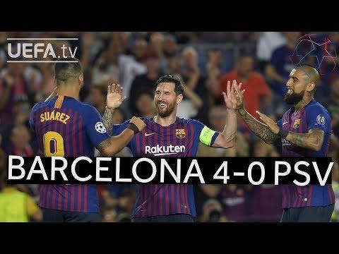 BARCELONA 4-0 PSV #UCL HIGHLIGHTS