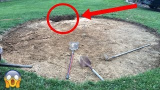 Comenzaron excavando un circulo en su jardín y terminaron con esta impresionante y magnifica obra.