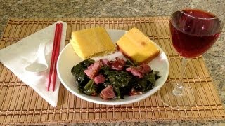 How To Cook Collard Greens-Cornbread-Soul Food-American Comfort Food