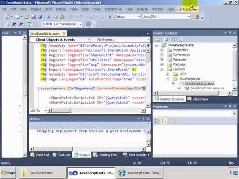 Learn To Use Javascript Client Object Model