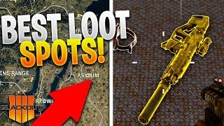 TOP 4 BEST LOOT SPOTS (+ Where To Find GOLD GUNS in BLACKOUT) - Black Ops 4: Blackout Loot Spots