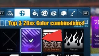 TOP 3 OF MY FAVOURITE 20XX COLOUR COMBINATIONS|Rocket League