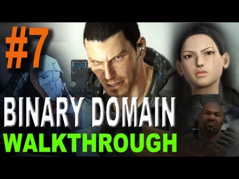 Binary Domain Walkthrough Part 7 (Defeat the Spider) (Xbox360, PS3, PC)