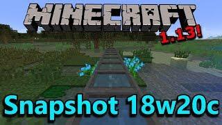 Minecraft 1.13 Snapshots 18w20a/b/c- Cauldron Colors, Conduit Changes, Bug Fixes!