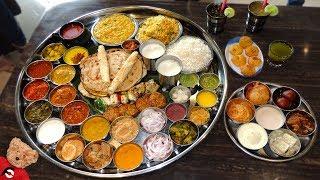 Massive Vegetarian Dara Singh Thali Challenge at Mini Punjab Mumbai!!