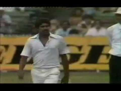 Kapil Dev 5-28 vs Aus Melbourne 1980-81