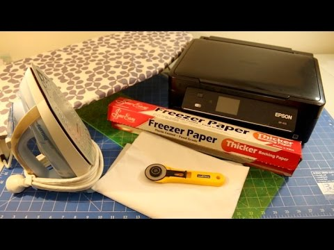 How to Print on Fabric with an Inkjet Printer and Freezer Paper - Washable as Well!