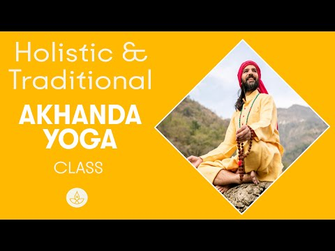 AKHANDA YOGA INTERMEDIATE SERIES (full 1hr 20min class from anand prakash yoga ashram)