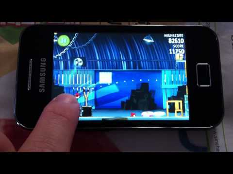 IPhone 4 VS Samsung Galaxy Ace : Angry Bird Rio :Part1