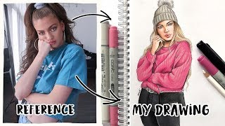 HOW I DRAW FROM REFERENCE- Easy Tutorial | Natalia Madej