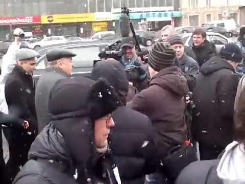 """Жириновский на акции """"Большой белый круг"""""""