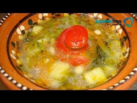 Receta de como preparar sopa de quelites y flor de for Como hacer comida facil