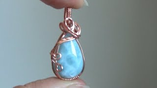Basic Cabochon Wrap Wire Wrapped Pendant Beginner