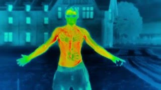Shirtless Heat Loss Experiment In Freezing Conditions #Winterwatch | Earth Unplugged
