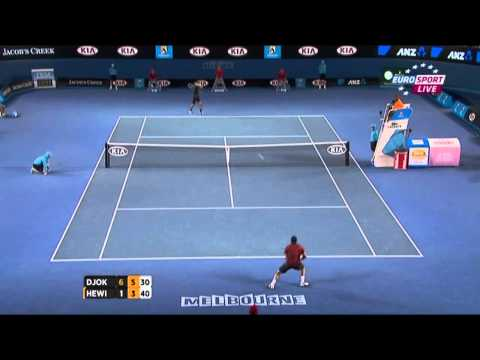 Djokovic vs Hewitt Australian Open 4th Round 2012 HD