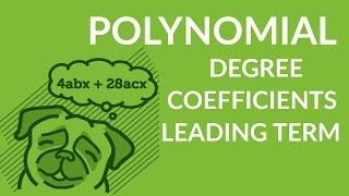 ʕ•ᴥ•ʔ Identify coefficients, leading term, leading coefficient and degree of a polynomial