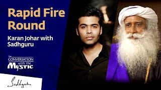 Rapid Fire Round – Karan Johar with Sadhguru