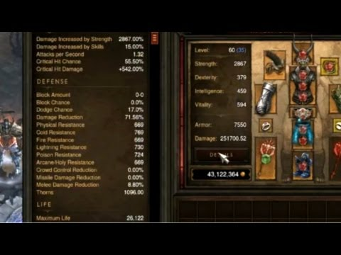 How to Gear a Mp10 Barb for 70 million gold in Diablo 3