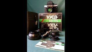 Video Review:  Kiev 60 TTL and MC Volna 3M 2.8/80mm.  Soviet Medium 6x6 film Camera