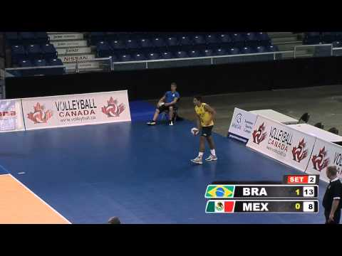 9-29-2012: Pan Am Men's Volleyball Brazil vs Mexico Highlights