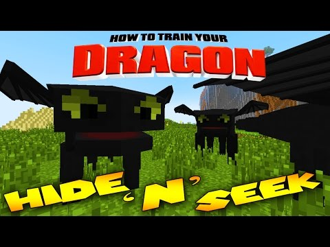 Minecraft Mods - MORPH MOD HIDE AND SEEK - TOOTHLESS ( Modded Minigame)