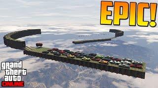 SÚPER DIFICIL!!! + MEGA BUG!! - Gameplay GTA 5 Online Funny Moments (Carrera GTA V PS4)