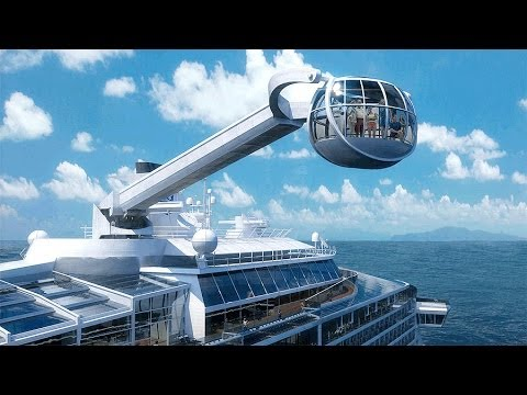 Cruise Ships New Observation Pod From A 300 Foot Crane