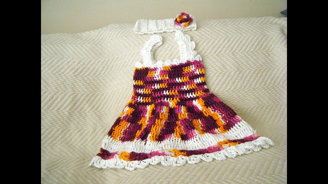 Crochet Baby Summer Dress set - YouTube