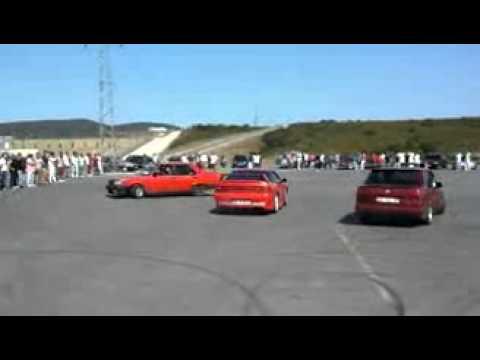 180 SX vs BMW vs ŞAHİN drift İstanbul park !!