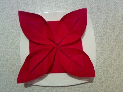 Как сделать из салфетки сердечко фото