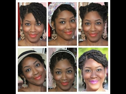 Natural Hair: (Fall Protective Styling) 7 Options for Styling Wearable 2 Strand