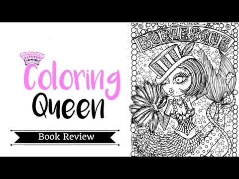 Mermaid Burlesque - Coloring Book Review