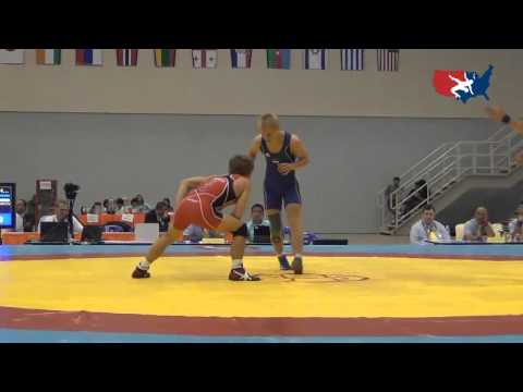2012 Junior Worlds - FS 55kg repechage - Joey Dance (USA) vs. Aleksei Baskakov (EST)