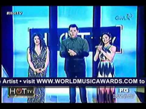 REGINE, NOMINADO SA WORLD MUSIC AWARDS (HOT TV Apr. 7, 2013)