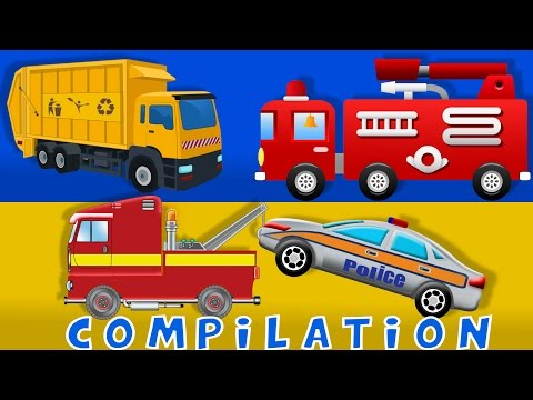 Cars Fire truck Tow Truck Heavy Vehicle Compilation