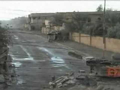 Iraq War - US soldiers fighting in Fallujah, extreme combat footage
