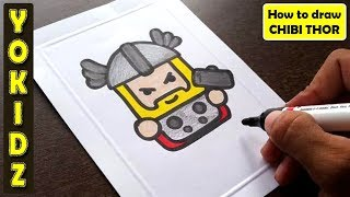 HOW TO DRAW CHIBI THOR #ENDGAME #AVENGERS